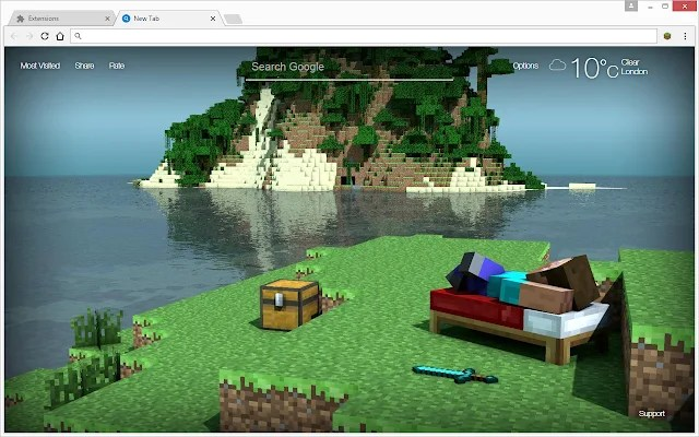 Minecraft Wallpapers HD New Tab Themes   Free Addons Minecraft Wallpapers HD New Tab Themes