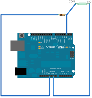 Reed switch anD arduino mega