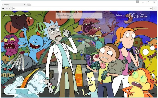 Rick And Morty Wallpaper HD New Tab Themes   Free Addons Rick And Morty Wallpaper HD New Tab Themes