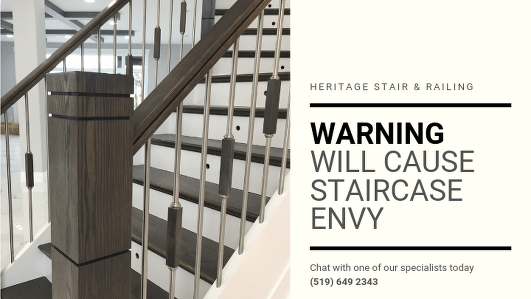 Heritage Stair Railing Co Ltd Stair Contractor Railing | Heritage Stair And Railing | Stainless Steel | Balcony Railing Design | Indoor Stair | Interior Stair | London Ontario