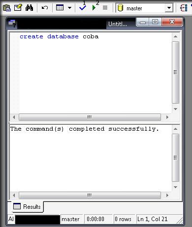 Membuat Database dengan Query