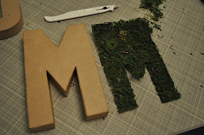 How To Make Moss Covered Letters For Wedding Perfect