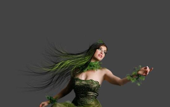 Cabelos verdes para complementar