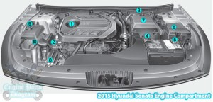 2015 Hyundai Sonata Engine Compartment Diagram (20 TGDI)