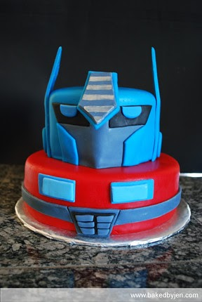 Baked By Jen Optimus Prime Cake