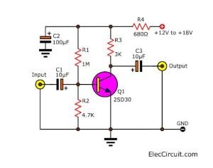 12v Preamp Circuit Daigram  Circuit Diagram Images