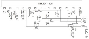 D Rudiant: Ic Based 100watts Stereo Amplifier Circuit With