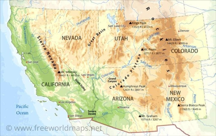 Driving Map Southwest Usa Html   Driving Map Southwest Usa