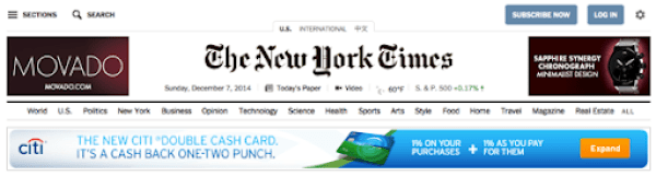 NYtimes with ads