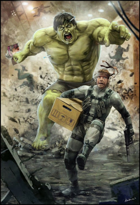 solid_snake_vs_hulk_by_hokunin-d344c1c