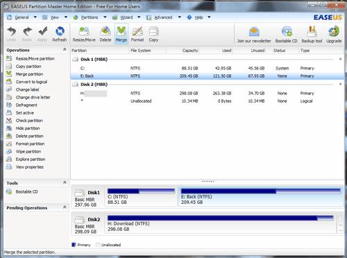 EASEUS Partition Master 9.0 磁碟分割免費軟體做好硬碟空間管理