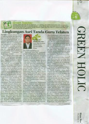 Green Teacher Tulisan Ronaldo Ronaldo S.Sn di Riaupos