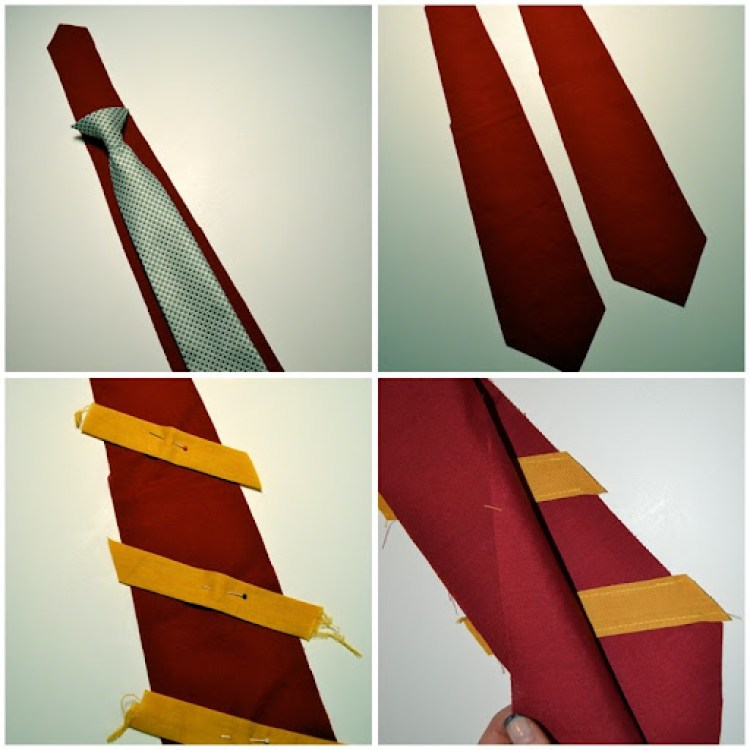 tie collage