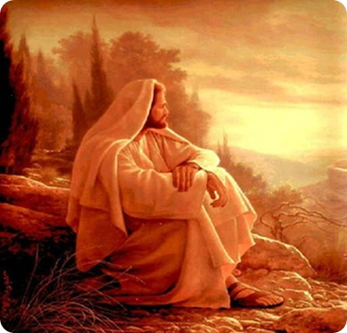 Jesus deep in thought