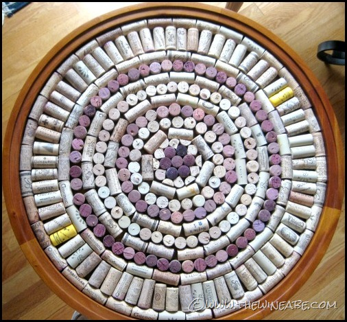 Wine Cork Craft Lazy Susan Sprinkled Nest Interiors