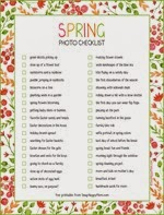 Snap Happy Mom - Spring Photo Checklist Free Printable