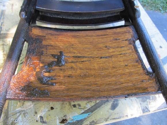 antique pew chair restoration (5)