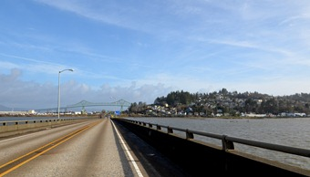 Astoria and the famous bridge high above the Columbia River