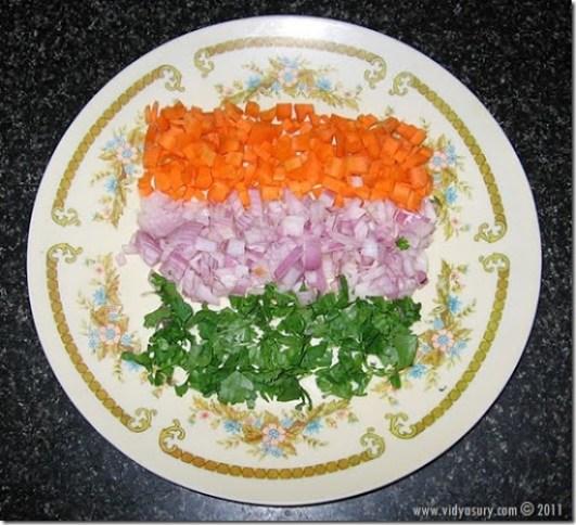 Vidya Sury's salad on plate