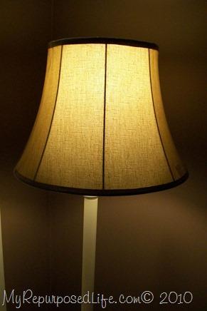 I painted my brass floor lamp white