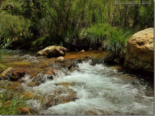 Bright Angel Creek at Roaring Springs Ranger Residence North Kaibab trail Grand Canyon National Park Arizona