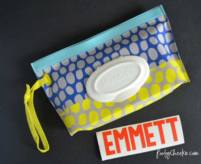 Personalized Baby Wipes Case