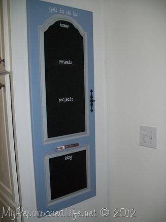 armoire door repurposed