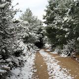 El recorrido de Castalla nevado (20-Diciembre-2009)