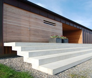 fachada moderna casa granja