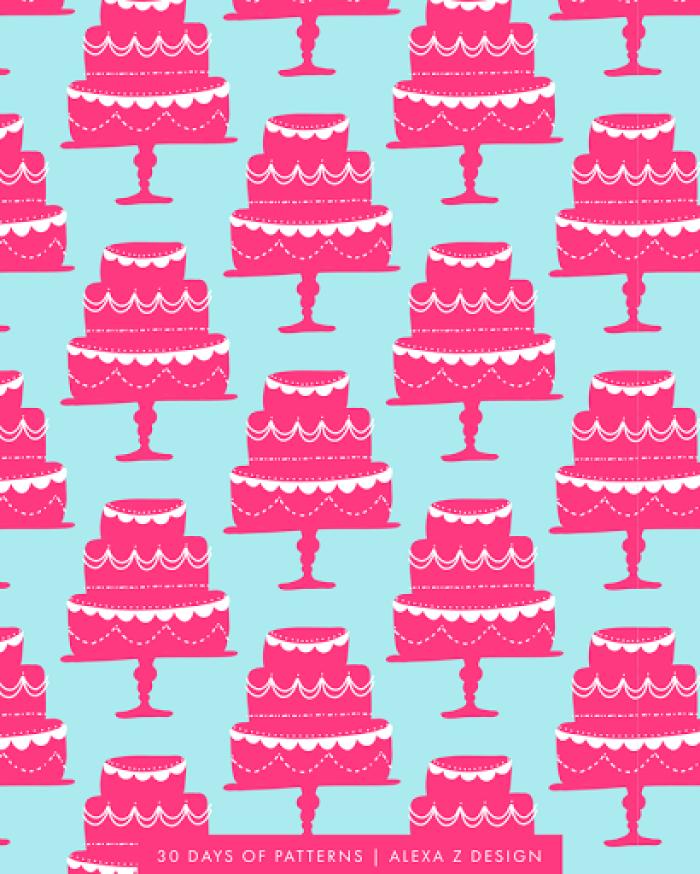 wedding cake pattern