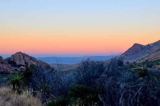 sunset from the Chisos Mountain Road