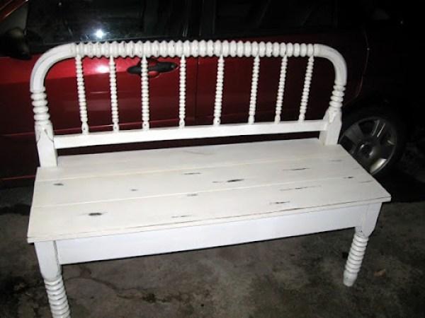 heirloom headboard bench