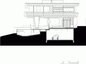 Plano corte  casa Beaumaris Maddison Arquitectos