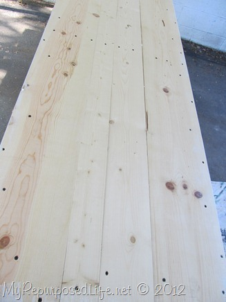 use wood screws when making your own barn doors