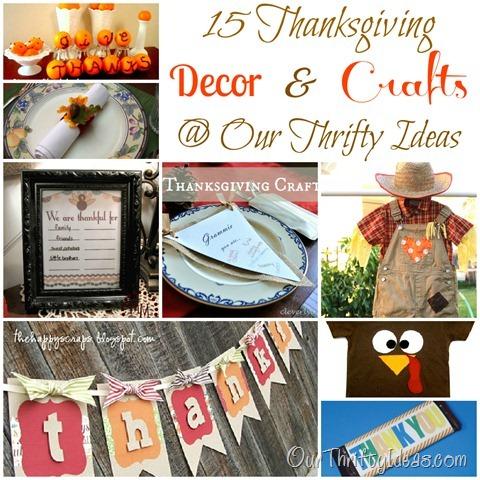 15 Thanksgiving Decor & Crafts