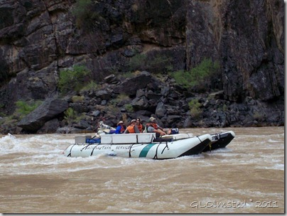 Small raft ~RM91.2 Colorado River trip Grand Canyon National Park Arizona