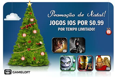 Promoção de Natal da Gameloft