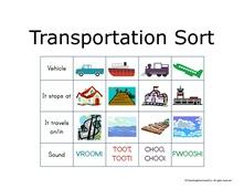 Transportation Sort Image