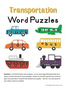 Transportation Word Puzzles-Image