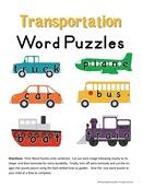 Transportation Word Puzzles-Image