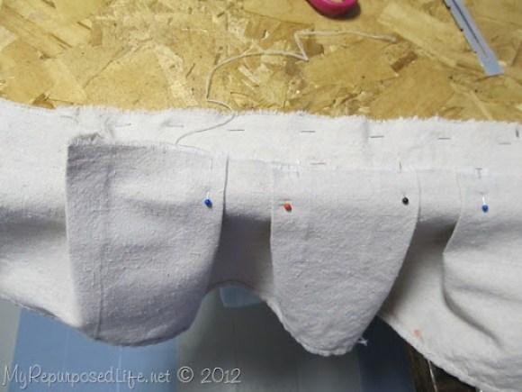 no sew upholstery (headboard bench)