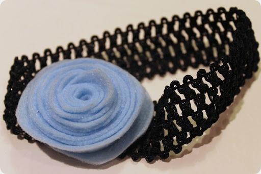 diy felt flower headband