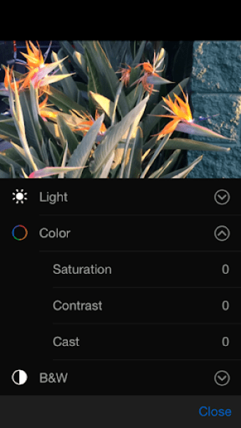 iOS 8 Photos app Color options
