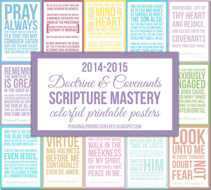 Doctrine & Covenants Seminary Scripture Mastery Colorful
