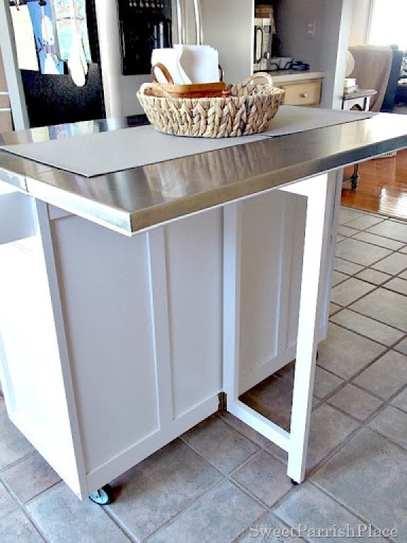 DIY kitchen island makeover