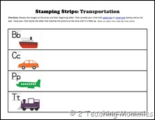 Stamping Strips Transportation