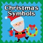 christmas symbols button