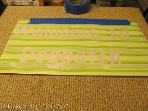 stenciled welcome mat