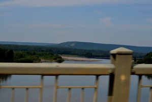 The Peace River from the bridge.  sigh.  I would have liked to see more