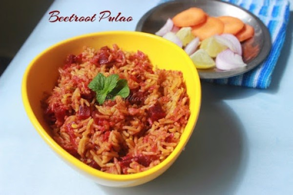 Beetroot Pulao1